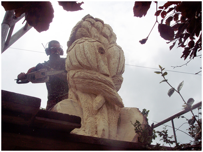 picture of king owl carving