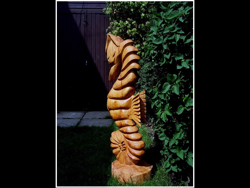 picture of sea horse carving