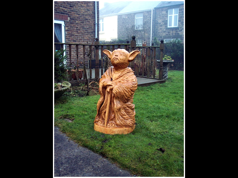 picture of yoda carving